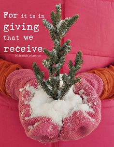 giving....