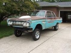 LOVE!!! 1964 Mercury Comet Gasser, the Patina is Awesome!!! Perfect Dream Car!!!! Maybe A CYCLONE COMET!! & They were Mercury's Version of Fords Thunderbolt!!!