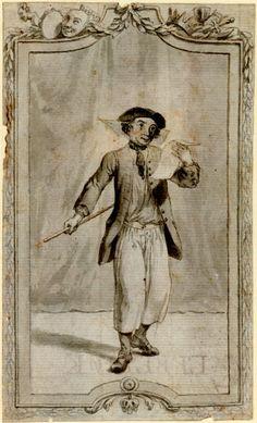 1730-1786 Portrait of David Garrick as the drunken sailor in Mallet's 'Britannia at The British Museum Registration number 1863,0214.758