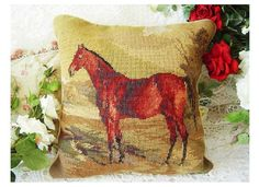 Woolen needlepoint Beautiful NOBLE HORSE full by ChinaTraditions, $99.00