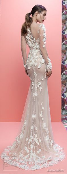 Wedding Dresses By Galia Lahav Couture Bridal Spring 2019 Collection- Queen of Hearts - Thea #weddingdress #weddingdresses #bridalgown #bridalgowns #bridal #bride #wedding #weddings