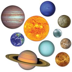 Product: Beistle 54755 Solar System Cutouts, - , Multicolored Manufacturer: Beistle Description: This item is a great value! Includes 20 solar system cutouts in package Measures from inches to 22 inches Made of boar.Decorate your home or classroom for a s Space Solar System, Solar System Planets, Our Solar System, Outer Space Decorations, Star Decorations, Birthday Decorations, Space Party, Space Theme, Planet Decor