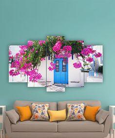 Look what I found on #zulily! Floral Doorway Five-Panel Wall Art #zulilyfinds