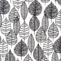 week 1 - Line Leaf | Black from Bark on Cloud9 Fabrics, must find where to get their prints!
