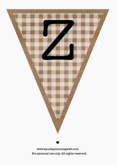 A Sunday morning with: Bandierine di carta stampabili (dalla A alla Z).