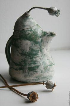 Купить Чайная пара - белый, чайник, сахарница, чайная пара, Керамика, керамика ручной работы