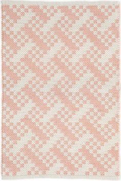 #DashandAlbert Hudson Pink Indoor/Outdoor Rug. Sit back and relax with design maven Bunny Williams' new indoor/outdoor, eco-friendly rug. Featuring a unique speckled pattern against a pale pink background, this rug is perfect for the porch or family room. Due to the handmade nature, variations in color are expected.