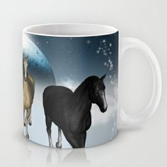 #Horses in the universe #Mug by nicky2342 - $15.00 Universe, Horses, Cartoon, Mugs, Tableware, Dinnerware, Tumblers, Dishes, Horse