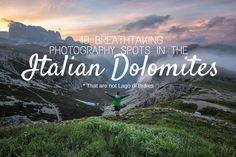 A list of some of the best and most popular photography spots in the Italian Dolomites. From Tre Cime di Lavaredo in South Tyrol through Baita Segnatini and the famous Seceda. Find information on where to stay in the Italian Dolomites and a map of northern Italy with the best photo spots marked on it.