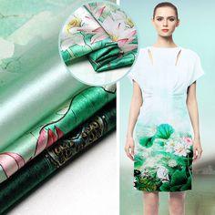 Muster Stoff Floral Print Seidenstoff Seidenkleid von AshleyFabric Short Sleeve Dresses, Dresses With Sleeves, Silk Fabric, Floral Prints, Fabrics, Etsy, Vintage, Beautiful, Fashion