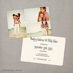 "Vintage Save the Date Card - the ""Madelyn 2"". via Etsy."