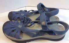 womens sz 8 navy blue closed toe sandal-water shoe, everday or beach wear- Keen #keen #SportSandals #Casual