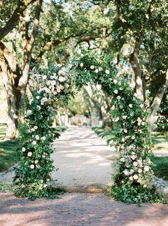 Hillary Hogan and Keith Putnam-Delaney's Garden Wedding in New Orleans Floral Wedding, Wedding Colors, Wedding Flowers, Wedding Themes, Wedding Ceremony Arch, Wedding Arches, Wedding Ceremonies, New Orleans, French Chandelier