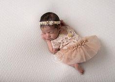 Newborn Lace Romper & Tutu Skirt Light by LovelyBabyPhotoProps