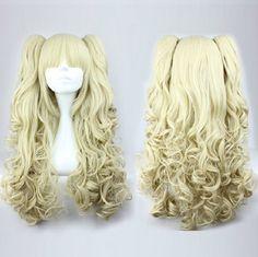 Harajuku Lolita Light Blonde Curl Cosplay Wig from Cosrea Cosplay