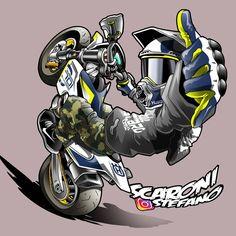 Moto Bike, Motorcycle Art, Sports Drawings, Cartoon Drawings, Motocross Tattoo, Biker, Photo Cutout, Bike Drawing, Stunt Bike