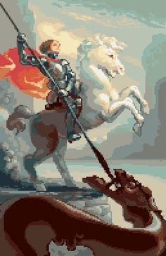 St George slaying a chocolate dragon by Christina Antoinette @castpixel