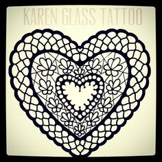 Sketching for this week. #laceheart #karenglasstattoo #drawing