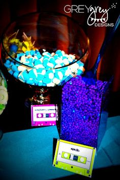 ~ glow party ideas....  GreyGrey Designs: {My Parties} Ryan's Glow in the Dark 18th Birthday Party