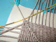 Тема: мои работы (103/144) - Плетение из газет и другие рукоделия - Плетение из газет