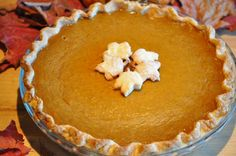 Here is Camille's recipe for Pumpkin Pie.  It's easy and delicious.  If you don't want to make the crust you can purchase a frozen one that fits a DEEP 10″ deep dish pie dish.