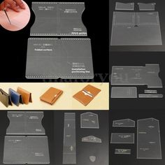 8 Types DIY Acrylic Leather Template Kit for Wallet Leathercraft Leather Pattern | Crafts, Leathercrafts, Leathercraft Tools | eBay!