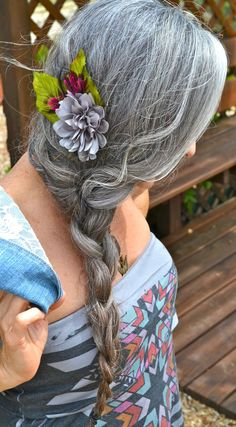 Even more women sporting fabulous long silver hair!  |   40+ Style
