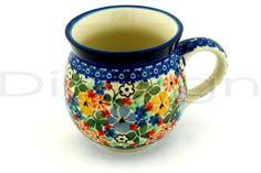 Polish Pottery Stoneware BUBBLE MUG: