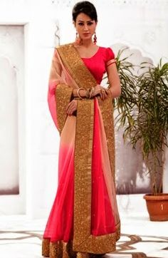 Attractive new latest designer #fashionable beautiful Indian #saree online at #craftshopsindia
