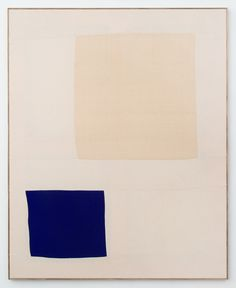 Ethan Cook is a Painter Without Paint. canvas, square, blue, geometric, frame