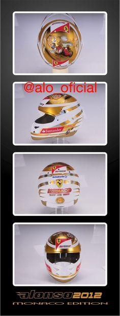 F.Alonso Monacos's helmet 2012