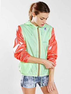 K-Way Claudette Klassic Baseball Windbreaker Jacket. Um Yes. This makes me think of a watermelon. Adore this.