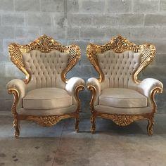 Antique Italian Rococo Chair Fauteuil by SittinPrettyByMyleen
