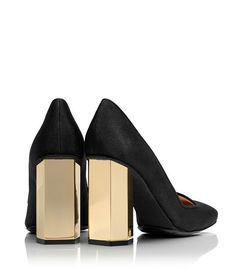REGINA HIGH-HEEL PUMP - BLACK