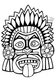 Mascara - Dollar Store Finds On Hair And Makeup Products >>> You can find out more details at the link of the image. Mayan Mask, Coloring Books, Coloring Pages, Tribal Drawings, Aztec Culture, Tiki Mask, Figure Sketching, Mexican Art, Aboriginal Art