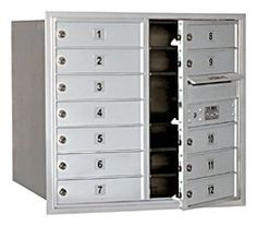 4C Horizontal Mailbox (Includes Master Commercial Lock) - 7 Door High Unit (27 Inches) - Double Column - 12 MB1 Doors - Aluminum - Front Loading - Private Access by Salsbury Industries. $591.39. 4C Horizontal Mailbox (Includes Master Commercial Lock) - 7 Door High Unit (27 Inches) - Double Column - 12 MB1 Doors - Aluminum - Front Loading - Private Access - Salsbury Industries - 820996411624