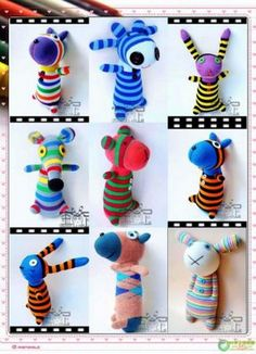 Huey Sims Handmade: Sock Animals