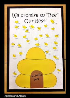 cute bee-haviour management idea! Apples and ABC's: Classroom Management