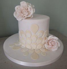 Petal rose vintage mini cake