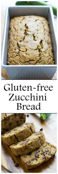 Gluten-free zucchini bread made without starches or gums! So moist and delicious, you would never guess it's healthy! #refinedsugarfree #dairyfree #cleaneating