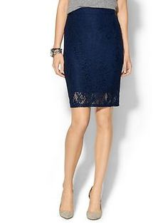 Piperlime Collection Lace Pencil Skirt | Piperlime