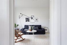 Interior nórdico sencillo y acogedor