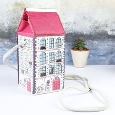 Looking for a quirky new bag? This mini box bag from the new 'Home' range by Disaster Designs is perfect. Get it from Lisa Angel with Free Worldwide Delivery. Disaster Designs, Lisa Angel, Box Bag, Mini Bag, Passion For Fashion, Great Gifts, New Homes, House Design, Bike