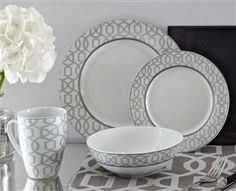 Denton Dinner Set Dinner Ware, Dinner Sets, Kitchen Items, Kitchen Dining, Interior Design Tips, Next At Home, Well Dressed, Pantry, Condo