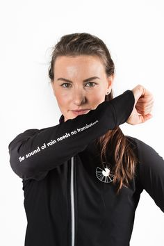 """The Sound of Rain...      .... Needs no Translation.""    This jacket will be your new best friend in your cycling wardrobe."