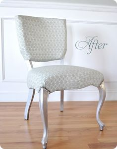 Inspiration: I want to redo our piano bench with silver legs and maybe with the nailhead trim, too.