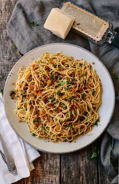 Spaghetti with Breadcrumbs & Anchovies
