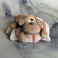 Biscuit, Teddy Bear, Clay, Toys, Animals, Sculptures, Clay Animals, Pet Dogs, Clays