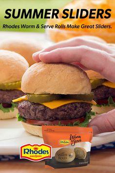 Slider Sandwiches, Finger Sandwiches, Delicious Sandwiches, Ham Sliders, Hot Dog Recipes, Hamburger Recipes, Beef Recipes, Cooking Recipes, Mini Sandwiches