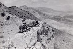 French foreign Legion (2ème REI / Infantry) in action at the beginning of war in Algeria (1955).